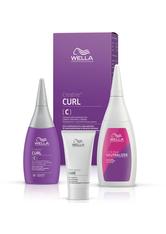 Wella Professionals Permanentes Styling Creatine+ Curl Set für eine Komplettanwendung (C) Coloriertes und sensibles Haar: Permanente Well-Lotion 75 ml + Fixierung 100 ml + Vorbehandlung 30 ml