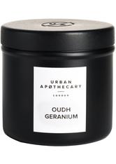 Urban Apothecary Luxury Iron Travel Candle Oudh Geranium Kerze 175.0 g