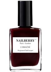 Nailberry Nägel Nagellack L'Oxygéné Oxygenated Nail Lacquer Noirberry 15 ml