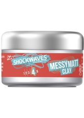 SHOCKWAVES - Wella Shockwaves Messy Go Matt Clay 75 ml - POMADE & WACHS