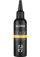 Alcina Color Gloss+Care Emulsion Haarfarbe 7.3 Mittelblond-Gold Haarfarbe 100 ml