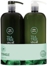 Aktion - Paul Mitchell Tea Tree Special Save Big Set 1000 ml + 1000 ml Haarpflegeset