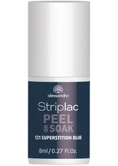 Alessandro Striplac Peel or Soak - Vegan Nagellack 8 ml Nr. 121 - Superstition Blue