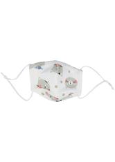 PARSA Beauty Waschbare Mund- und Nasenmaske Kind Print Katze grau