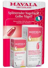 Mavala Duo - Splitternder Nagellack, gelbe Nägel