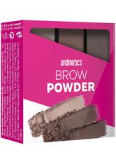 Andmetics Make Up Augenbrauen Brow Powder Trio 1 Stk.