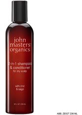John Masters Organics Zinc & Sage 2-in-1 for dry scalp Haarshampoo 473 ml