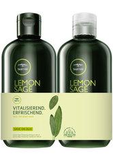 Aktion - Paul Mitchell Save On Duo Tea Tree Lemon Sage - Shampoo 300 ml + Conditioner 300 ml Haarpflegeset
