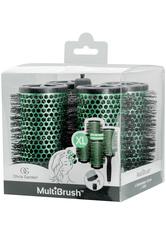 Olivia Garden MultiBrush 56/75 grün, 4er Set mit Griff Friseurzubehör