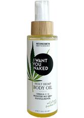 I Want You Naked HOLY HEMP Body Oil Bio-Hanfsamenöl & Vitamin E 100 ml Körperöl