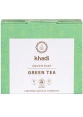 Khadi Naturkosmetik Produkte Shanti Soap - Green Tea 100g Gesichtsseife 100.0 g