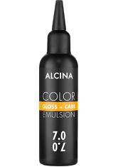 Alcina Color Gloss+Care Emulsion Haarfarbe 7.0 Mittelblond Haarfarbe 100 ml