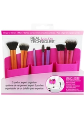 REAL TECHNIQUES - Real Techniques Pinselreiniger & Tools Real Techniques Pinselreiniger & Tools 3 Pocket Expert Organizer - Pink Make up Accessoires 1.0 pieces - Makeup Pinsel