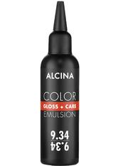 Alcina Color Gloss+Care Emulsion Haarfarbe 9.34 L.Blond-Gold-Kupfer Haarfarbe 100 ml