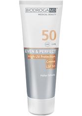 Biodroga MD Gesichtspflege Even & Perfect High UV Protection Cream LSF 50 75 ml
