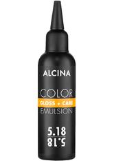 Alcina Color Gloss+Care Emulsion Haarfarbe 5.18 Hellbraun-Asch-Silber Haarfarbe 100 ml