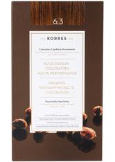 KORRES - KORRES Arganöl Hochentwickelte Coloration 6.3 Dunkelblond Gold - HAARFARBE