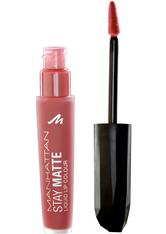 MANHATTAN - Manhattan Make-up Lippen Stay Matte Liquid Lip Colour Nr. 100 The Naked Cowgirl 5,50 ml - LIQUID LIPSTICK