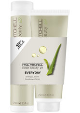 Aktion - Paul Mitchell Save on Duo Clean Beauty everyday - Shampoo 250 ml + Conditioner 250 ml Haarpflegeset