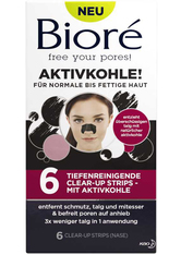 BIORÉ - Bioré Aktivkohle Tiefenreinigende Clear-Up Strips 6 Stk. Mitesser Strips - CLEANSING