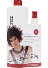 Aktion - Paul Mitchell Refillable Set Fast Drying Sculpting Spray 1250 ml Haarstylingset