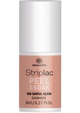Alessandro Striplac Peel or Soak - Vegan Nagellack 8 ml Nr. 108 - Sinful Glow