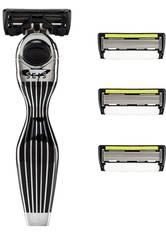 Shave Lab Herrenrasierer Seis Starter Set Black Edition P.6+1 Griff + 4 Klingen 1 Stk.