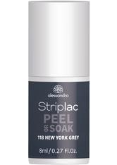 Alessandro Striplac Peel or Soak Nagellack 8 ml Nr. 118 - New York Grey