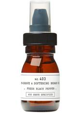 DEPOT - DEPOT 403 Pre-Shave & Softening Beard Oil Fresh Black Pepper 30 ml - BARTPFLEGE