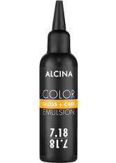 Alcina Color Gloss+Care Emulsion Haarfarbe 7.18 M.Blond-Asch-Silber Haarfarbe 100 ml