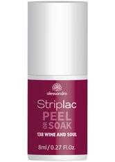 Alessandro Striplac Peel or Soak - Vegan Nagellack 8 ml Nr. 138 - Wine And Soul