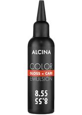 Alcina Color Gloss+Care Emulsion Haarfarbe 8.55 Hellblond Int.-Rot Haarfarbe 100 ml