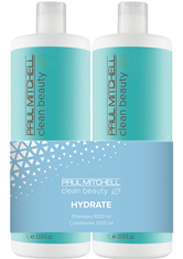 Aktion - Paul Mitchell Clean Beauty Hydrate 2 x 1000 ml Haarpflegeset