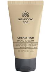 Alessandro Spa Cream Rich Handcreme  50 ml