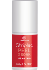 Alessandro Striplac Peel or Soak - Vegan Nagellack 8 ml Nr. 123 - Ruby Red