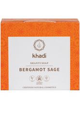 Khadi Naturkosmetik Produkte Shanti Soap - Bergamot Sage 100g Gesichtsseife 100.0 g