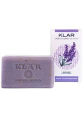 KLAR Seifenmanufaktur Palmölfreie Seifen Lavendelseife 100 g