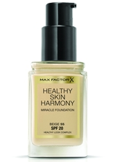 Max Factor Make-Up Gesicht Healthy Skin Harmony Miracle Foundation Nr. 55 Beige 30 ml