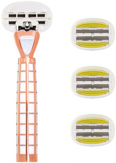 Shave Lab Damenrasierer Tres Starter Set White Edition Gold Rush P.L.6+ Griff + 4 Klingen 1 Stk.
