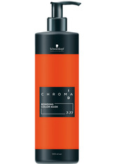 SCHWARZKOPF - Schwarzkopf Chroma ID Bonding Color Mask 7-77 Mittelblond Kupfer Extra, 500 ml - Haartönung