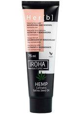 Iroha Produkte Hemp Cannabis Sativa Seed Oil Nourishing and Renewal Sleeping Face Mask Maske 75.0 ml