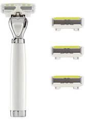 Shave Lab Damenrasierer Aon Starter Set White Edition P.L.6 Griff + 4 Klingen 1 Stk.