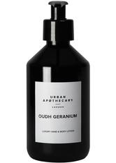 URBAN APOTHECARY - Urban Apothecary London Oudh Geranium Luxury Hand & Body Lotion Bodylotion  300 ml - HÄNDE