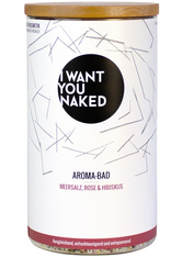 I WANT YOU NAKED - I WANT YOU NAKED Meersalz, Rose & Hibiskus Badezusatz 620 g - DUSCHEN & BADEN