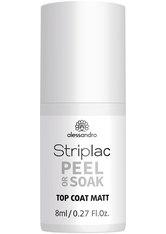 Alessandro Striplac Peel or Soak Top Coat Matt 8 ml Nagelüberlack