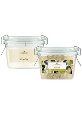 LaNature Badesalz 70 g und Duftkerze im Weckglas Olive-Limone Pflegeset