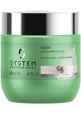 SYSTEM PROFESSIONAL - System Professional EnergyCode N3 Nativ Pre-Shampoo Clay 200 ml Haarmaske - Conditioner & Kur