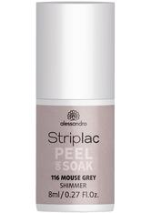Alessandro Striplac Peel or Soak - Vegan Nagellack 8 ml Nr. 116 - Mouse Grey