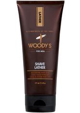 WOODY'S - Woody's Herrenpflege Bartpflege Shave Lather 177 ml - RASIERSCHAUM & CREME