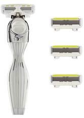 Shave Lab Damenrasierer Seis Starter Set White Edition P.L.6 Griff + 4 Klingen 1 Stk.